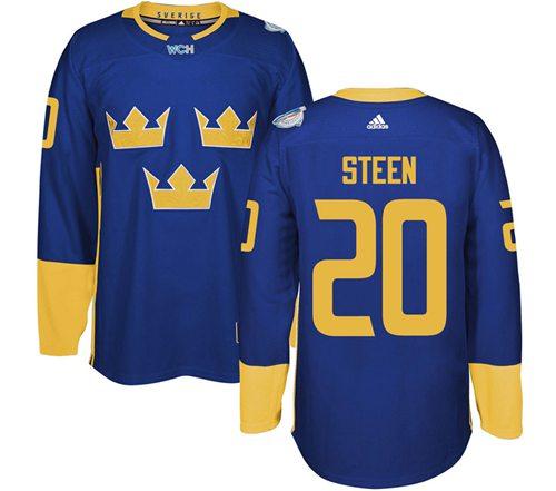 Team Sweden #20 Alexander Steen Blue 2016 World Cup Stitched NHL Jersey