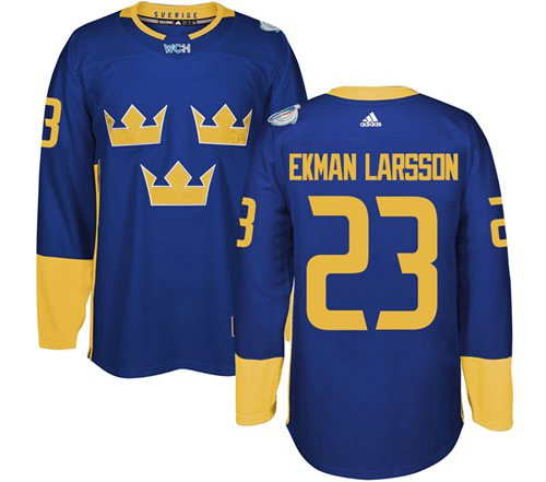Team Sweden #23 Oliver Ekman-Larsson Blue 2016 World Cup Stitched NHL Jersey