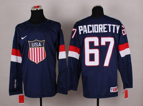 2014 Olympic Team USA #67 Max Pacioretty Navy Blue Stitched NHL Jersey