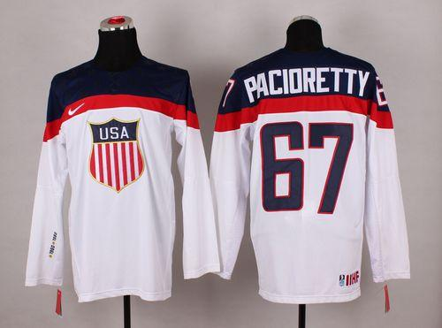 2014 Olympic Team USA #67 Max Pacioretty White Stitched NHL Jersey