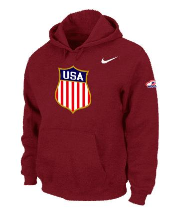 Team USA Hockey Winter Olympics KO Pullover Performance NHL Hoodie Red