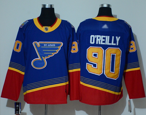 Adidas Blues #90 Ryan O'Reilly Blue/Red Authentic 2019 Heritage Stitched NHL Jersey