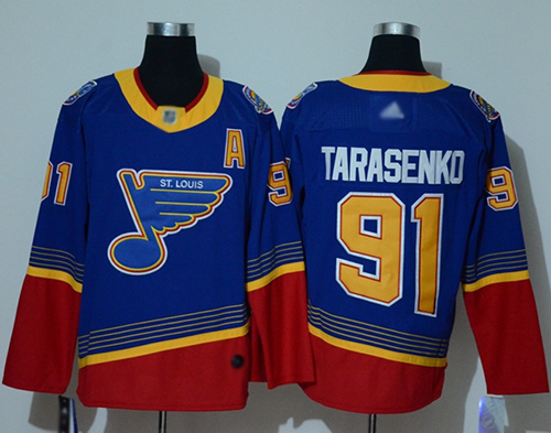 Adidas Blues #91 Vladimir Tarasenko Blue/Red Authentic 2019 Heritage Stitched NHL Jersey