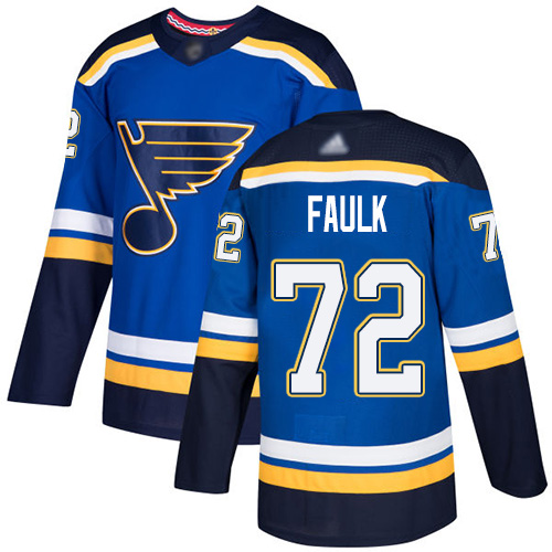 Adidas Blues #72 Justin Faulk Blue Home Authentic Stitched NHL Jersey
