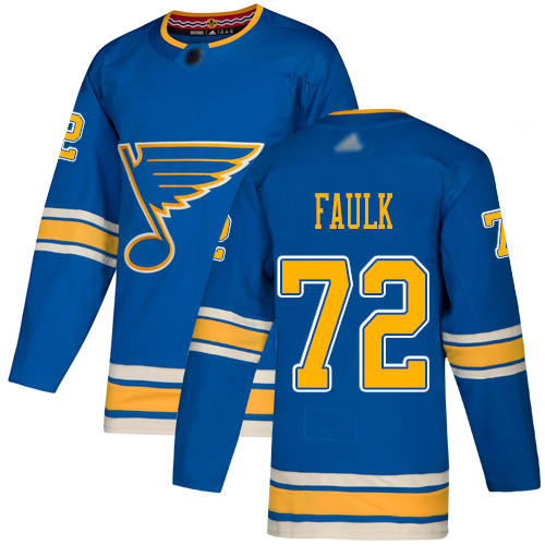Adidas Blues #72 Justin Faulk Blue Alternate Authentic Stitched NHL Jersey