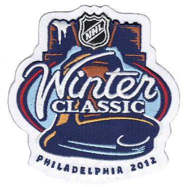 Stitched 2012 NHL Winter Classic Game Logo Jersey Patch (Philadelphia Flyers vs New York Rangers)