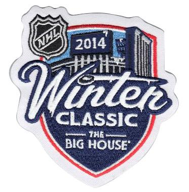 Stitched 2014 NHL Winter Classic Game Logo Jersey Patch (Detroit Red Wings vs Toronto Maple Leafs)