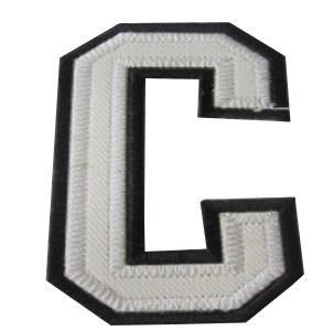 Stitched NHL Patch Philadelphia Flyers Captain White C Patch