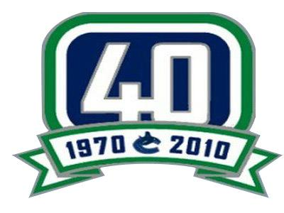 Stitched NHL Vancouver Canucks 40th Anniversary Jersey Patch