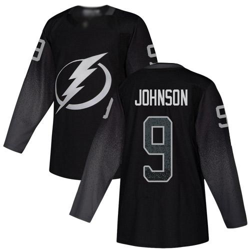 Adidas Lightning #9 Tyler Johnson Black Alternate Authentic Stitched NHL Jersey
