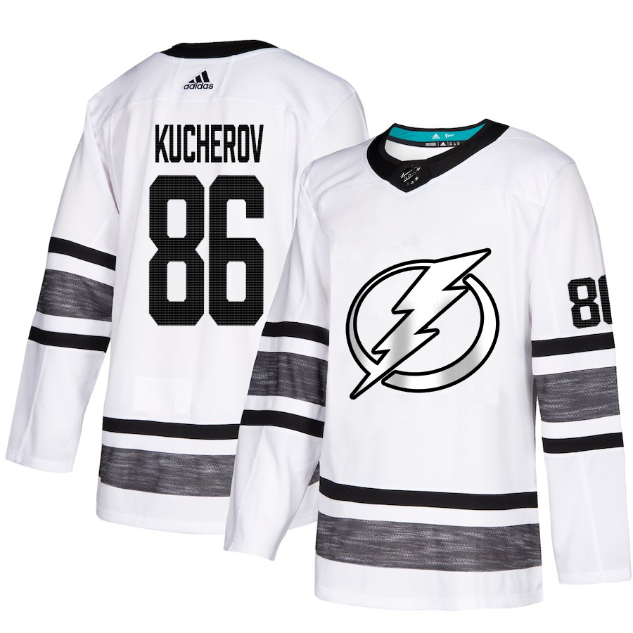 Adidas Lightning #86 Nikita Kucherov White Authentic 2019 All-Star Stitched NHL Jersey