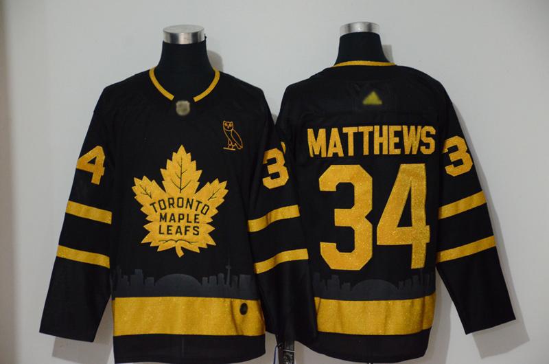 Adidas Maple Leafs #34 Auston Matthews Black City Edition Authentic Stitched NHL Jersey