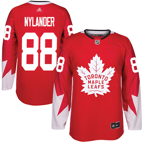 Adidas Maple Leafs #88 William Nylander Red Team Canada Authentic Stitched NHL Jersey