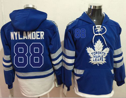 Maple Leafs #88 William Nylander Blue Name & Number Pullover NHL Hoodie