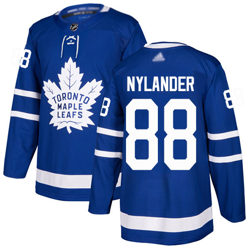 Adidas Maple Leafs #88 William Nylander Blue Home Authentic Stitched NHL Jersey