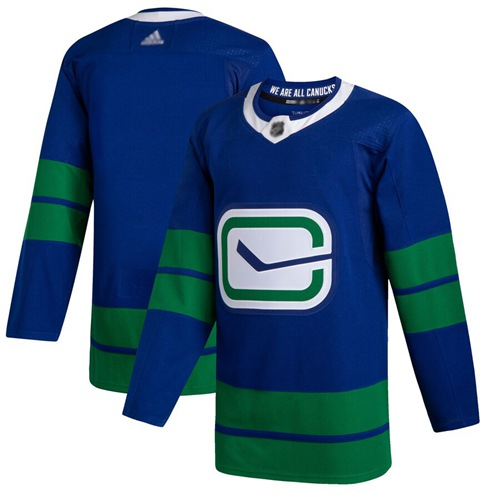 Adidas Canucks Blank Blue Alternate Authentic Stitched NHL Jersey