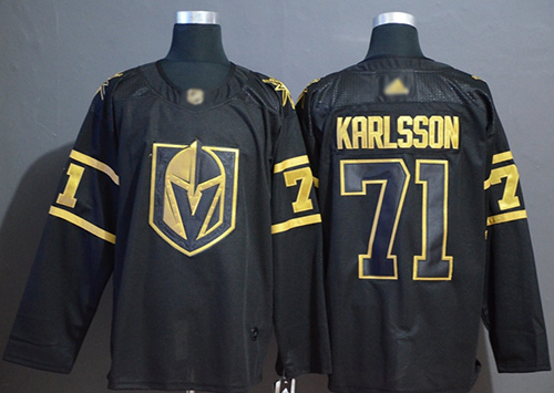 Adidas Golden Knights #71 William Karlsson Black/Gold Authentic Stitched NHL Jersey