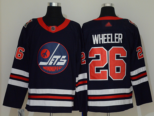 Adidas Jets #26 Blake Wheeler Navy Blue Authentic 2019 Heritage Classic Stitched NHL Jersey