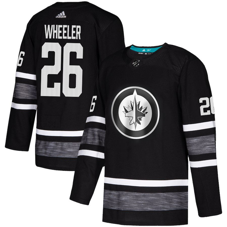 Adidas Jets #26 Blake Wheeler Black Authentic 2019 All-Star Stitched NHL Jersey