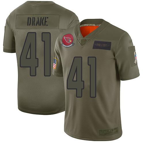 Nike Cardinals #41 Kenyan Drake Camo Men's Stitched NFL Limited 2019 Salute To Service Jersey