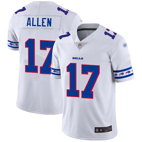 Nike Bills #17 Josh Allen White Men's Stitched NFL Limited Team Logo Fashion Jersey