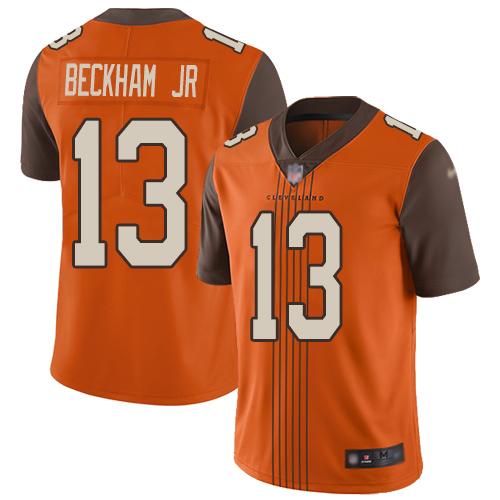 Nike Browns #13 Odell Beckham Jr Orange Alternate Men's Stitched NFL Limited City Edition Jersey
