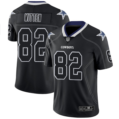 Nike Cowboys #82 Jason Witten Lights Out Black Men's Stitched NFL Limited Rush Jersey