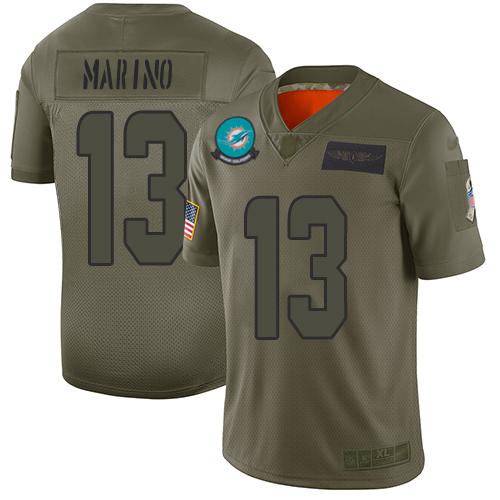 Nike Dolphins #13 Dan Marino Camo Men's Stitched NFL Limited 2019 Salute To Service Jersey