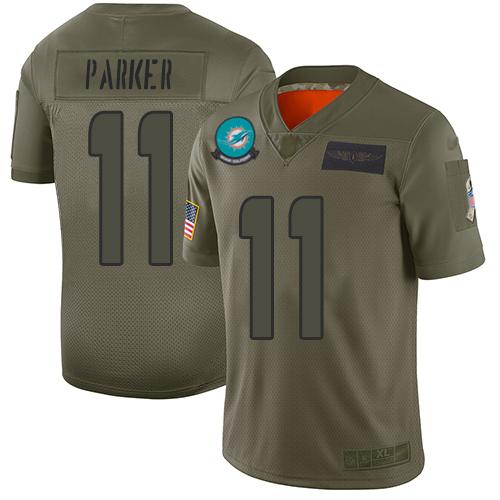 Nike Dolphins #11 DeVante Parker Camo Men's Stitched NFL Limited 2019 Salute To Service Jersey