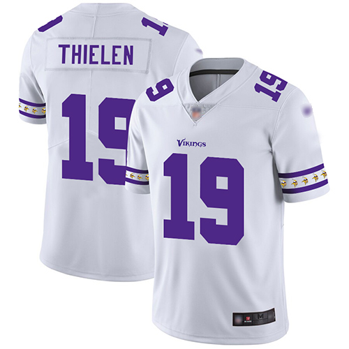 Nike Vikings #19 Adam Thielen White Men's Stitched NFL Limited Team Logo Fashion Jersey