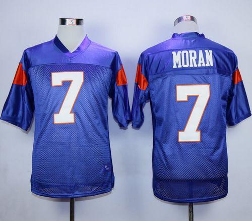 Blue Mountain State #7 Alex Moran Blue Stitched Football Jersey