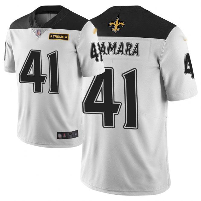 Nike Saints #41 Alvin Kamara White Men's Stitched NFL Limited City Edition Jersey