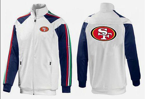 NFL San Francisco 49ers Team Logo Jacket White_2