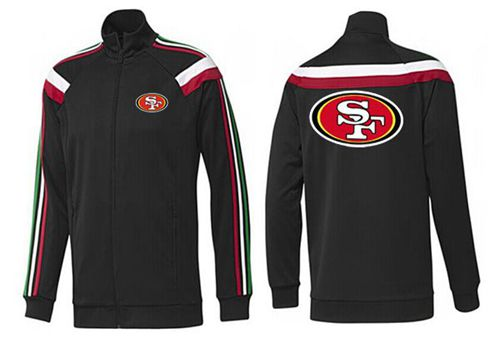 NFL San Francisco 49ers Team Logo Jacket Black_2