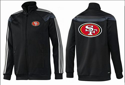 NFL San Francisco 49ers Team Logo Jacket Black_3