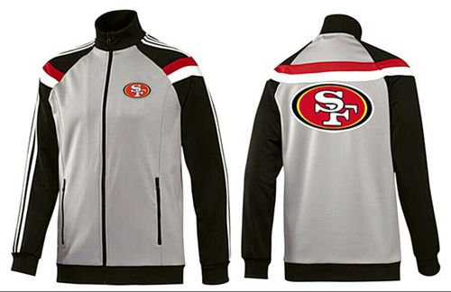 NFL San Francisco 49ers Team Logo Jacket Grey