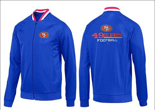 NFL San Francisco 49ers Victory Jacket Blue_1