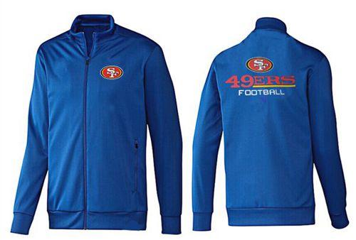 NFL San Francisco 49ers Victory Jacket Blue_2