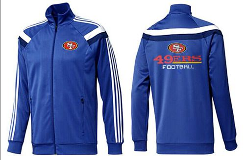 NFL San Francisco 49ers Victory Jacket Blue_3