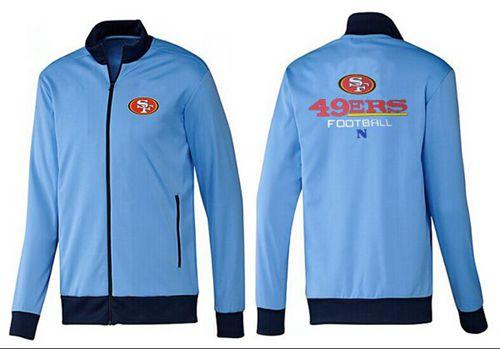 NFL San Francisco 49ers Victory Jacket Light Blue