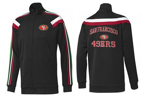 NFL San Francisco 49ers Heart Jacket Black_1