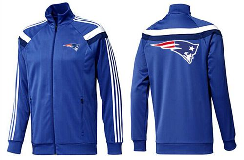 NFL New England Patriots Team Logo Jacket Blue_5