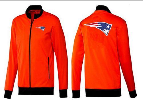 NFL New England Patriots Team Logo Jacket Orange
