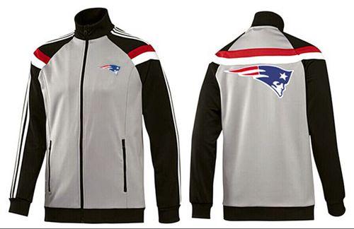 NFL New England Patriots Team Logo Jacket Grey