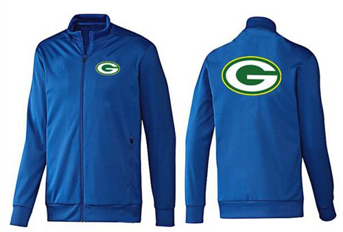 NFL Green Bay Packers Team Logo Jacket Blue_1