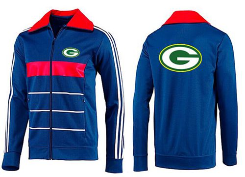 NFL Green Bay Packers Team Logo Jacket Blue_2