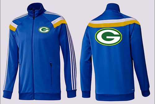 NFL Green Bay Packers Team Logo Jacket Blue_3