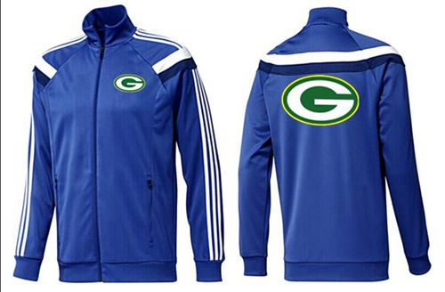 NFL Green Bay Packers Team Logo Jacket Blue_4