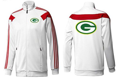 NFL Green Bay Packers Team Logo Jacket White_1