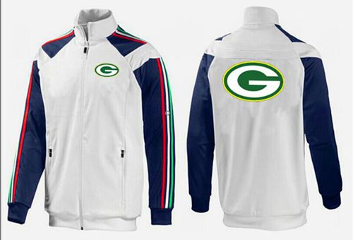 NFL Green Bay Packers Team Logo Jacket White_2